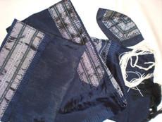 Gabrieli Silk With Blue Background Tallit Set