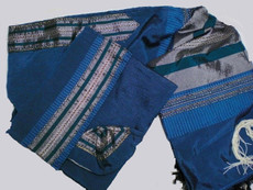 Gabrieli Silk With Teal Background Tallit Set