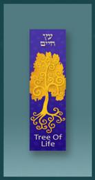 Gold Tree of Life Car Mezuzah