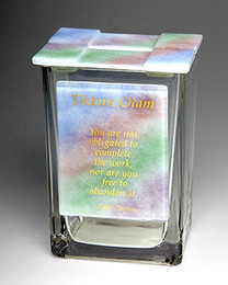 Beames Designs Tikkun Olam Rainbow Tzedakah Box