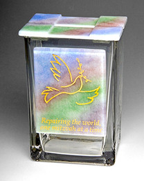 Beames Designs Dove Rainbow Tzedakah Box