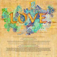 Golden Love Ketubah