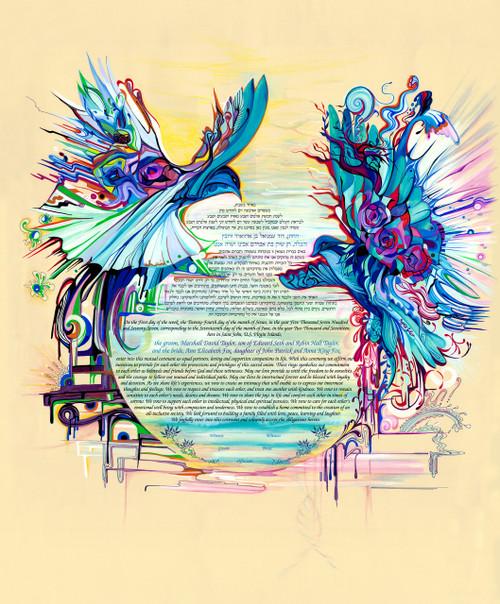 Birds Of Paradise Ketubah