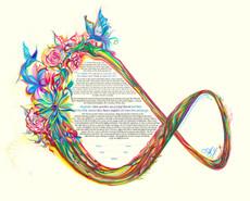 Infinite Floral & Ribbons Garland