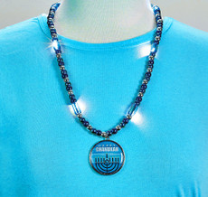 Chanukah Light Up Necklace with Beads