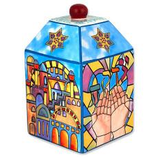 Jerusalem Ceramic Tzedakah Box