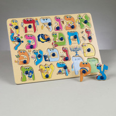Alef Bet Wood Puzzle For Little Hands