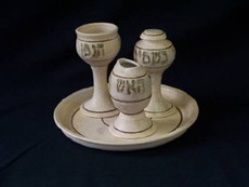 Ceramic Havdalah Set With Tray