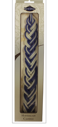 Deluxe Blue and White Flat Havdalah Candle