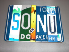 """So, Nu"" LIcense Plate Sign"