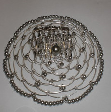 Silver Beaded Wire Head Covering