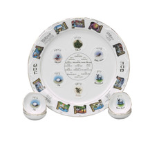 """""""Story"""" Seder Plate and Cups"""