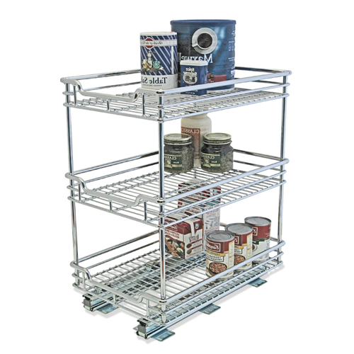 3 Tiers made from sturdy stainless steel chrome coated.