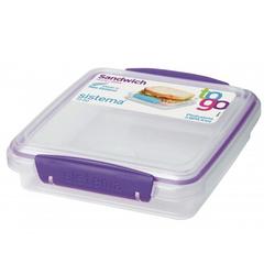 Purple Klip-It Sandwich Box.