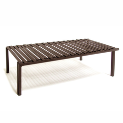 Made from steel and has a contemporary design.