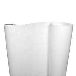 Made from extra-thick flexible white plastic to protect your shelves from dust and spills.