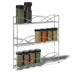Counterop Chrome Spice Rack