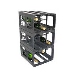 Wine Crate Black