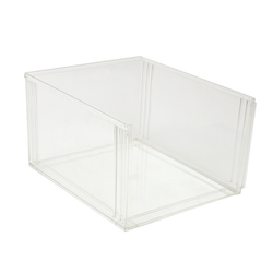 These bins are easily stackable or can also use it with the clear cover.