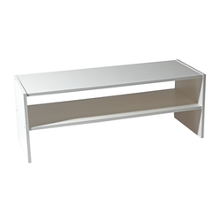 2 Shelf Closet Organizer comes in two sizes: Large and Medium. Easy to assemble and made from laminated wood.