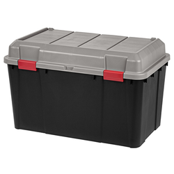Features an additional compartment in the lid to keep contents separate.