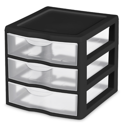 Clear View Mini Desktop Drawer in black | Solutions Stores
