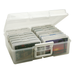 Large. These picture keepers are stackable and feature an in-molded handle for easy portability.