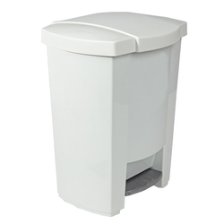 19 Litre (8 Gal.) plastic waste bin. Lid closes automatically, smoothly and silently after every use.