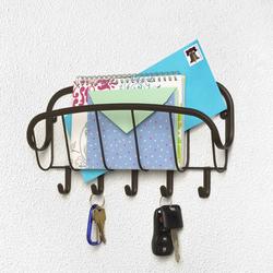 Ashley Wall Mount Letter Holder & Key Rack