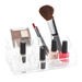 Stores makeup, hair accessories and jewelry. Made from acylic material that is easy to clean.