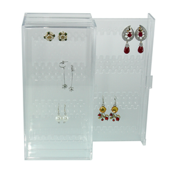 Made from clear acrylic plastic for easy identification of contents. Features two panels.