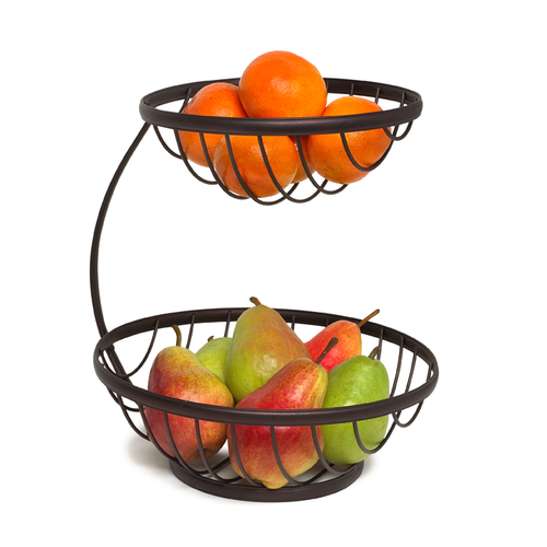 Tiered Fruit Basket 2 Tier Fruit Basket Wire Fruit Basket