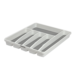 This tray has 6 compartments. It features soft lining to prevent scratches and anti-bacterial material.