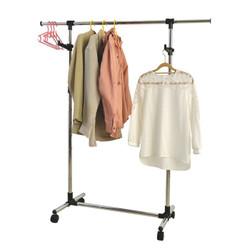 Garment Rack has adjustable height and length.