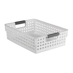 White Plastic Storage Basket