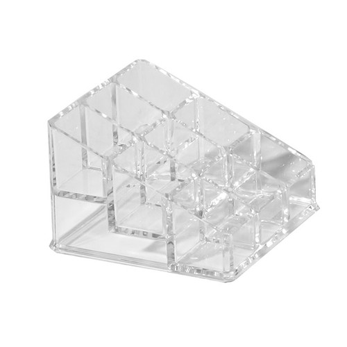 9 space nail polish holder. Made from acrylic plastic.