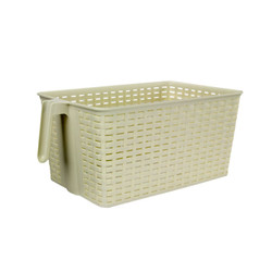 HANDLED STORAGE BASKET CREAM