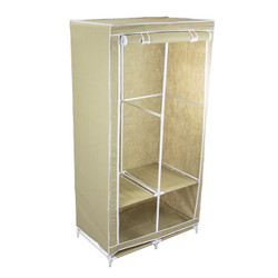 """Covered Wardrobe 34"""" Wide fully open."""