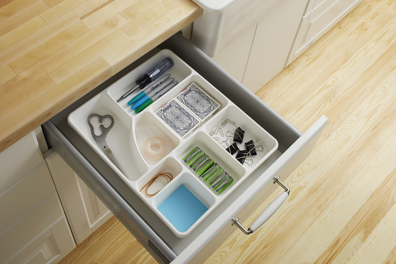 Junk Drawer Organizer In White Solutions Your