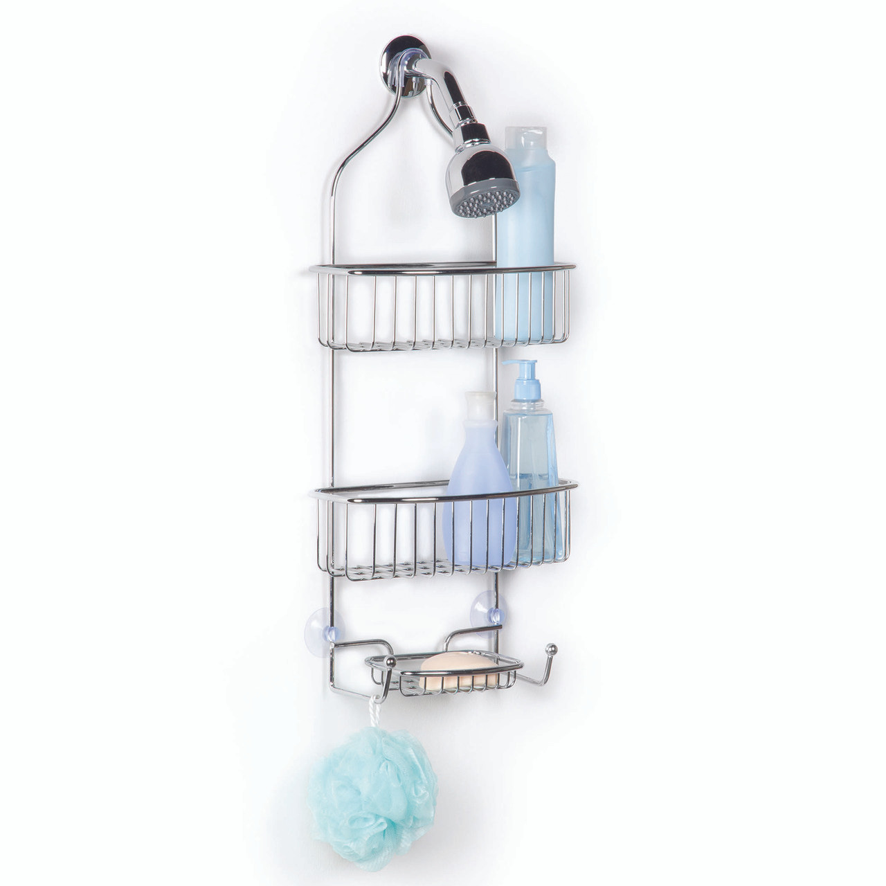 Windsor Shower Caddy in Chrome - Solutions - Your Organized Living Store