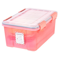 Keepsake Storage Bin in Coral