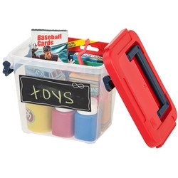 Kid's Carry All in Clear with Red/Blue