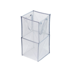 FOLDING MESH CUBE DOUBLE SILVER