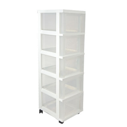 TOWER 5-DRAWER MC-305TOP-NS WH