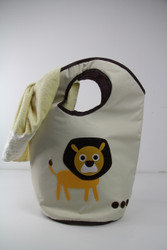 LION LAUNDRY HAMPER
