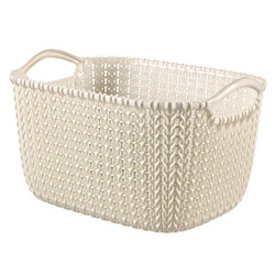 KNIT 8L BASKET OASIS WHITE