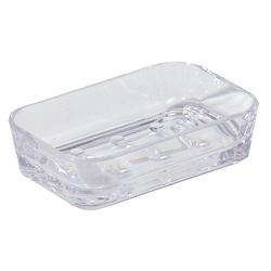 OPTIKS ACRYLC SQ SOAP DISH-CL