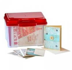 CARD KEEPER RUBY RED LID