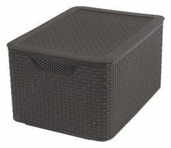 STYLE BOX L+LID DK BROWN