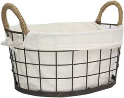 WIRE BASKET WITH LINER L